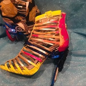 Hotty Caged Bootie by Mya 6.5